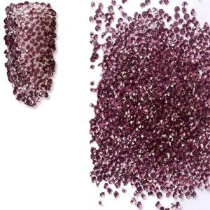 Мини кристали за декорация - Лилави